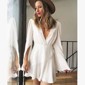 MAJORELLE Split Sleeve Mini Dress